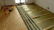 Монтаж деревянного пола с утеплением в Минске и районе.
