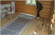 Выполним монтаж деревянных полов с утеплением